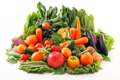 新鮮な野菜と果物